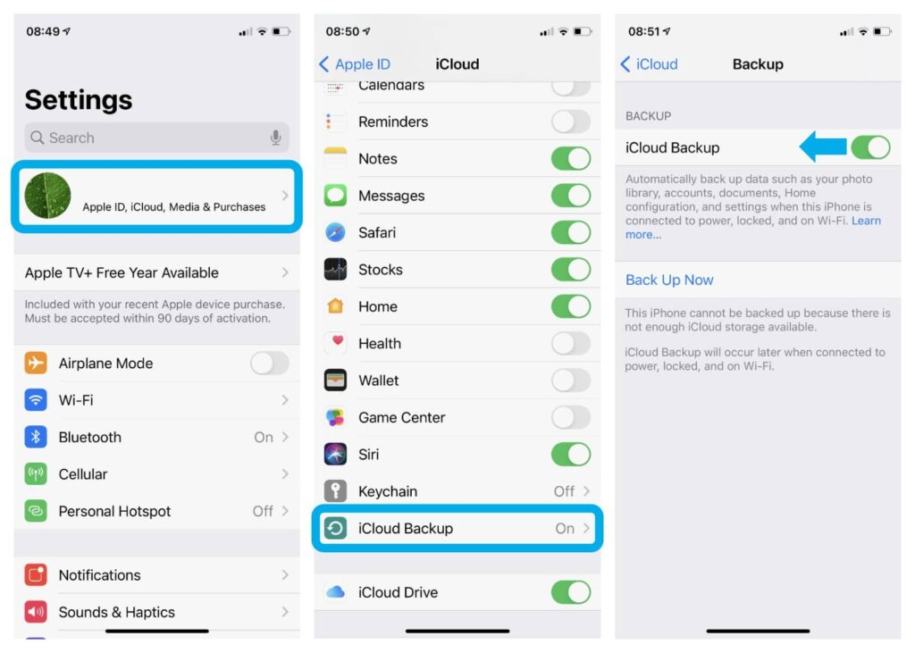 backing-up-data-on-iPhone-iCloud