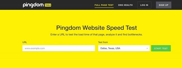 Pingdom-website-speed-test-tool